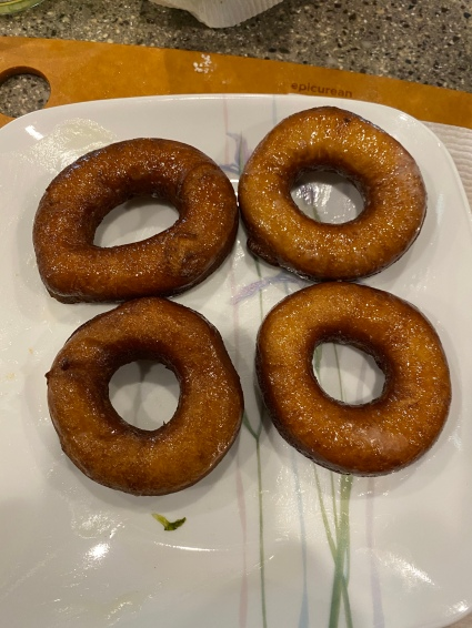 Donuts done right! Deep-fried, not air-fried!